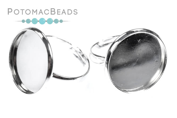 Ring Setting - Round 18mm Silver Setting
