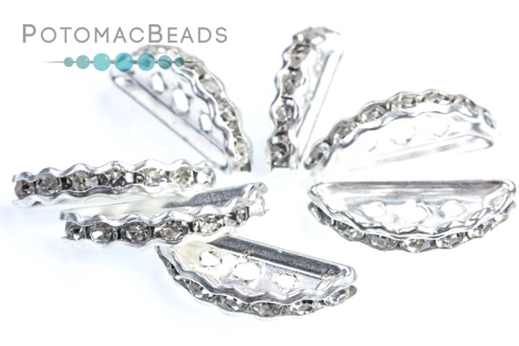 Crystal Moon 3H Beads - Silver