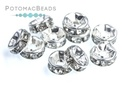 Crystal Rhinestone Rondelle Spacer - Crystal 6mm (Pack of 50)