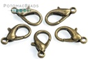 Lobster Clasp 16mm - Antique Brass Plated (Pack of 10)