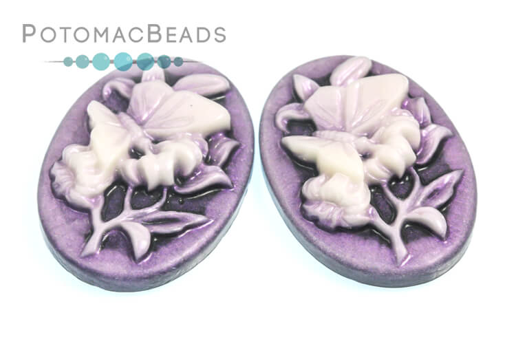 Resin Cameo - Butterfly Violet 18x25m