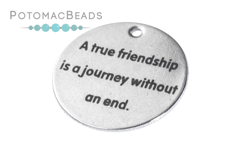 Charm - Friendship 20mm Disc Stainless Steel