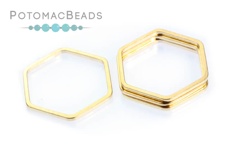 Perfect Form Hexagon - Rose Gold Plated 16mm
