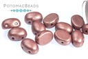 Samos Par Puca Beads - Metallic Dark Plum
