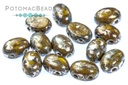 Samos Par Puca Beads - Yellow Patina