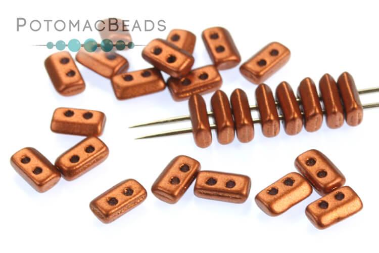 Piros Par Puca Beads - Copper (Bronze Red Matte)