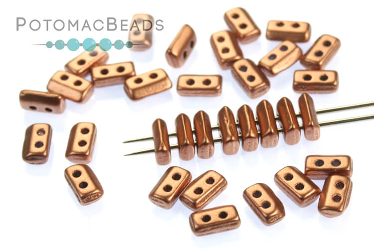 Piros Par Puca Beads - Vintage Copper (Copper Gold Matte)