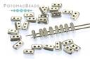 Piros Par Puca Beads - Aluminum Silver (Silver Alluminium Matte)