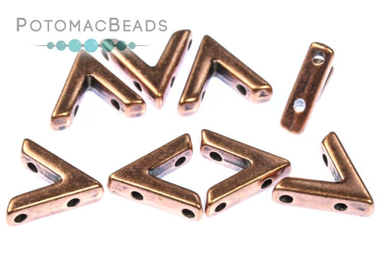 Metal AVA Beads - Antique Copper (10 Pack)