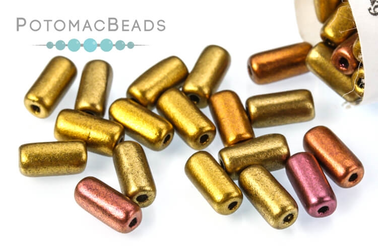 Tubelet Bead - Ancient Gold (Factory Pack)