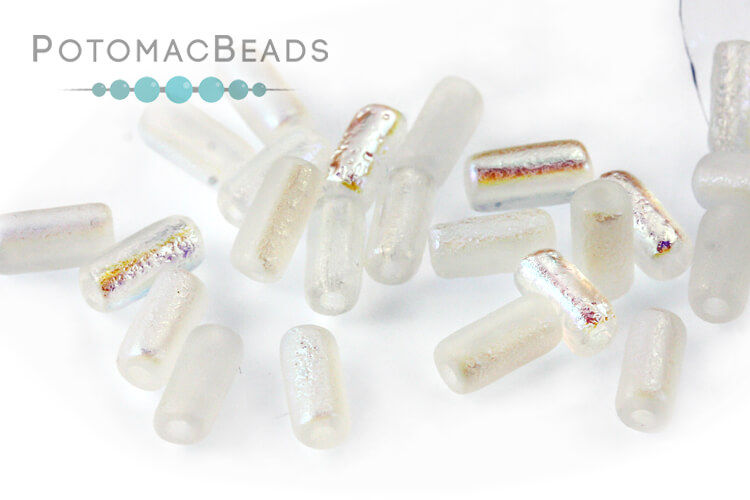 Tubelet Bead - Crystal Etched AB Full (Factory Pack)