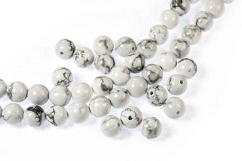 [29924] Gemstones - Howlite Round Beads 8mm