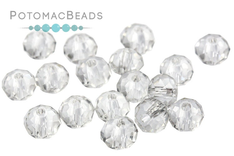 Potomac Crystal Rondelle Beads - Crystal 3x4mm