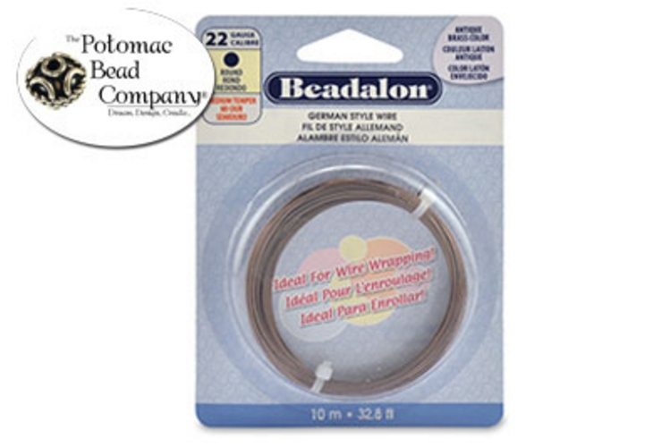 Beadalon Half Hard Wire 22g AB