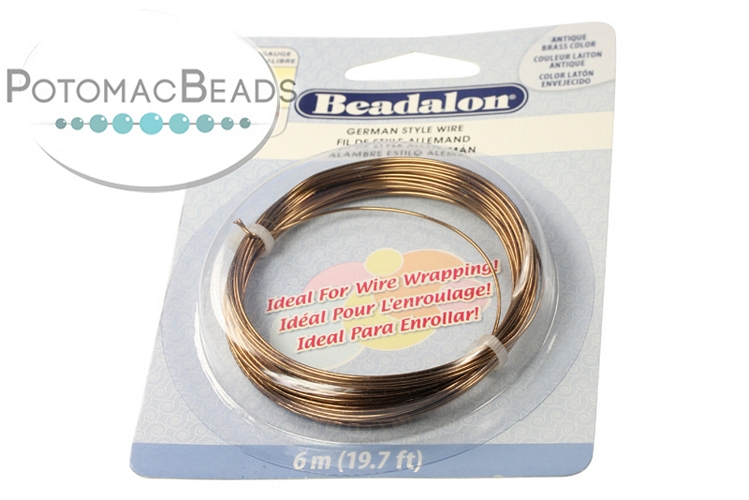 Beadalon Half Hard Wire 20g AB