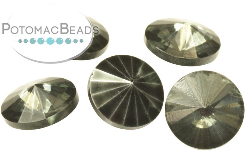 Potomac Crystal Rivoli - Earthtone Metallic Ice 10mm (pack of 25)