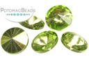 Potomac Crystal Rivoli - Olive Metallic Ice 10mm (pack of 25)