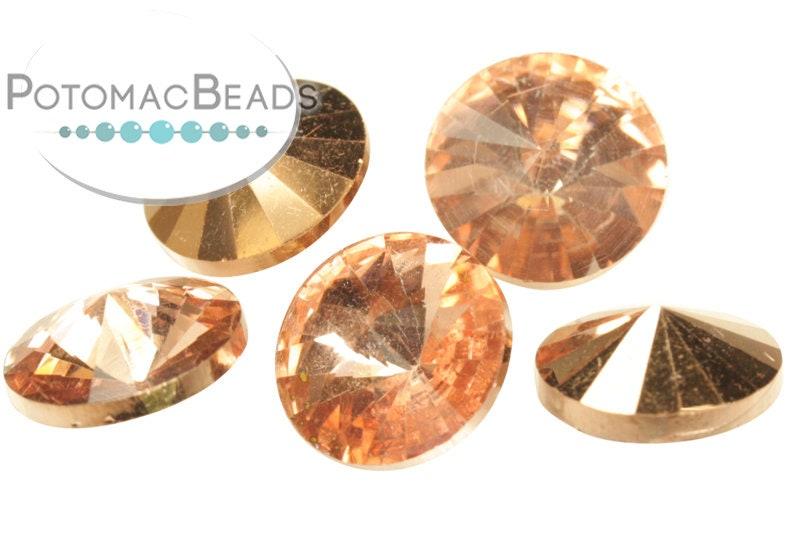 Potomac Crystal Rivoli - Crystal Capri Gold 10mm (pack of 25)