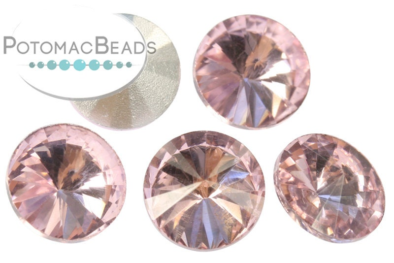 Potomac Crystal Rivoli - Light Rose 10mm Pack of 5