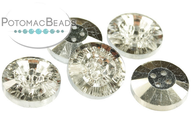 Potomac Crystal Button - Crystal Labrador 14mm