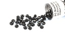 Potomac Crystal Rondelle Beads - Jet 2x3mm
