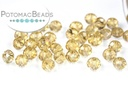 Potomac Crystal Rondelle Beads - Gold Champagne 2x3mm