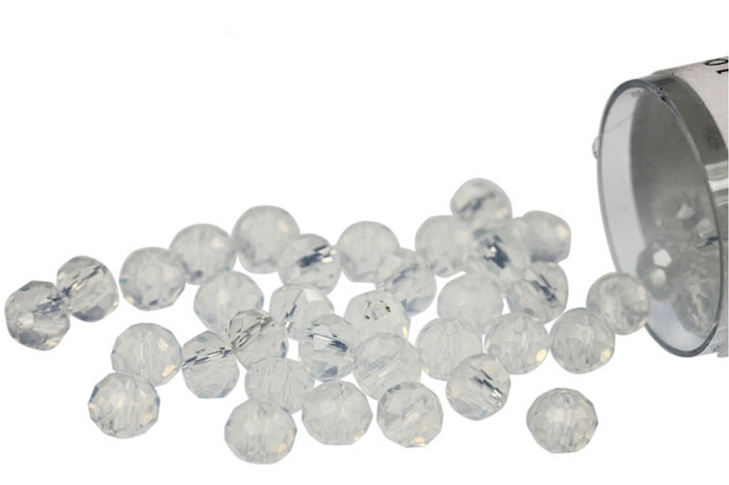 Potomac Crystal Rondelle Beads - Opal AB 2x3mm