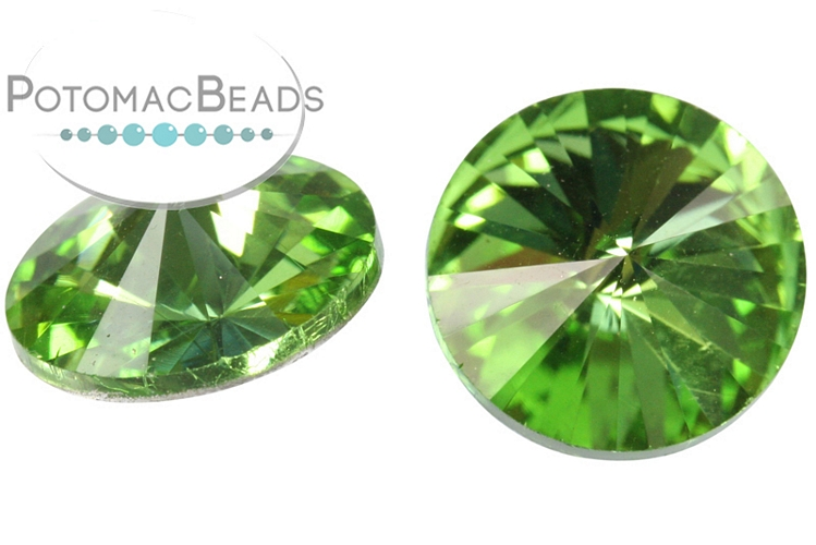Potomac Crystal Rivoli - Peridot 12mm Pack of 2