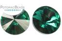 Potomac Crystal Rivoli - Emerald 12mm Pack of 20