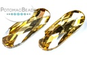 Potomac Crystal Long Ovals - Gold Champagne 9x27mm