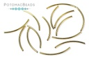 Curved Tube 20mm Gold Plated