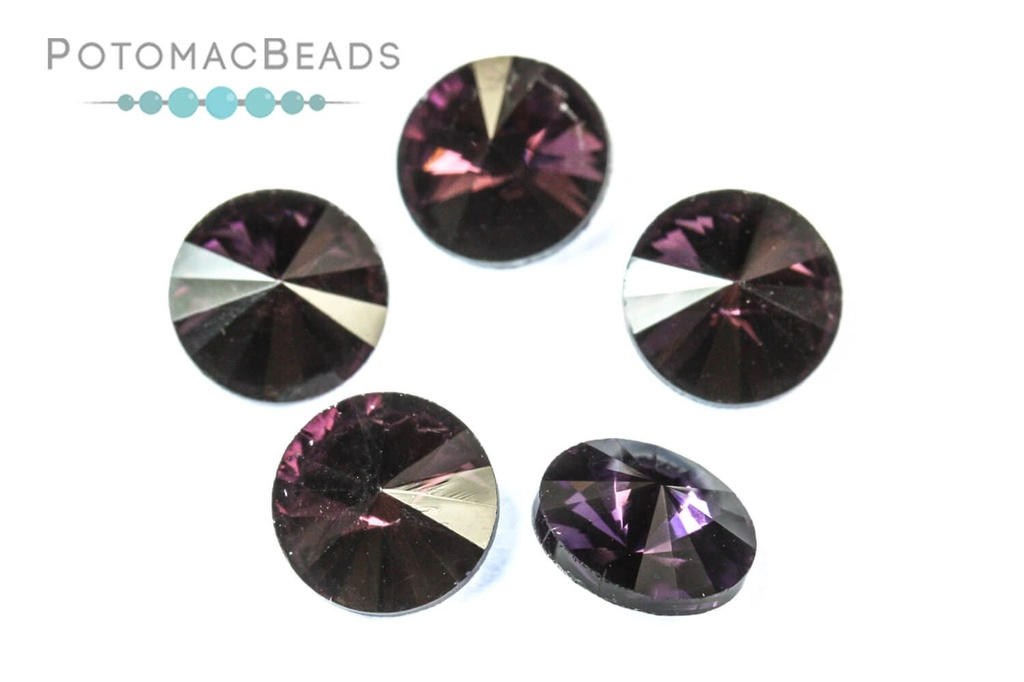 Potomac Crystal Rivoli - 8mm Amethyst (Pack of 5)
