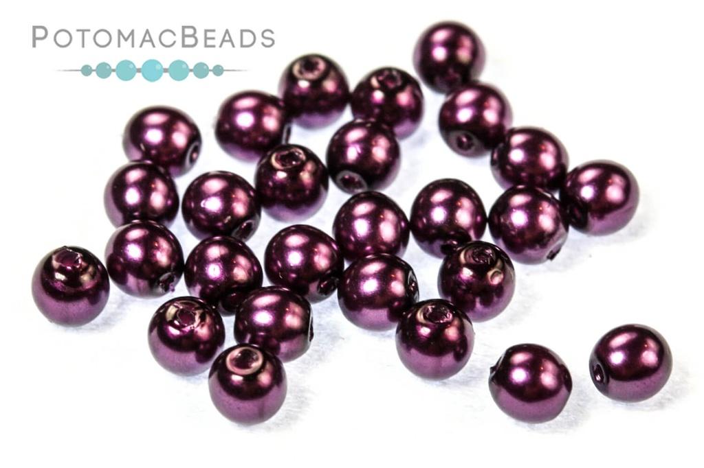 Czech Pearls - Purple Plum Shiny 3mm