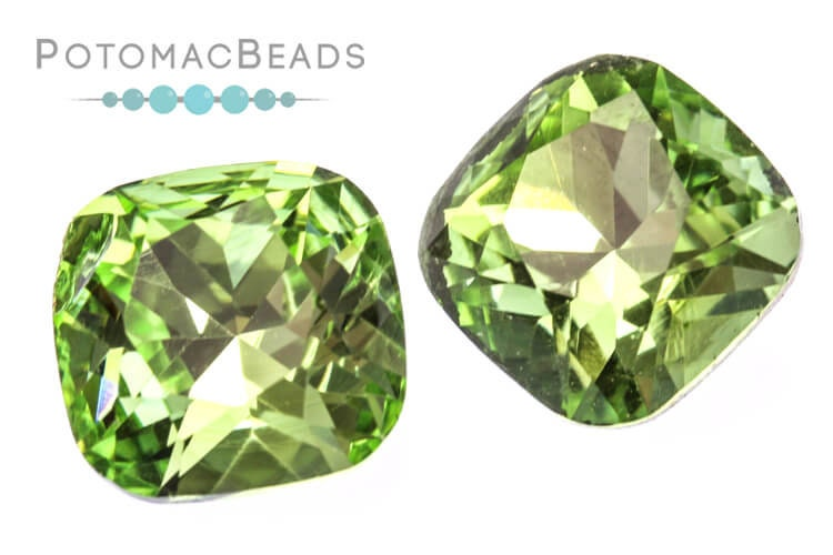 Potomac Crystal Cushion - Peridot 12mm