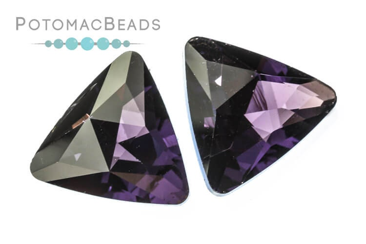 Potomac Crystal Triangle - Violet 18mm