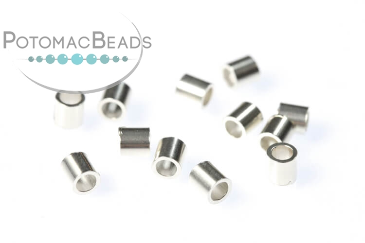 Crimp Bead Tubes 2x2mm Per 20 Sterling Silver