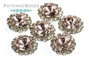 Potomac Crystal Sunflowers - Light Rose 8mm