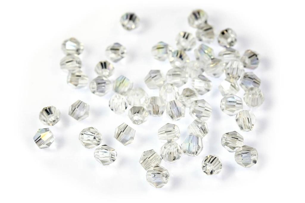 Potomac Crystal Bicones - Crystal AB 2mm