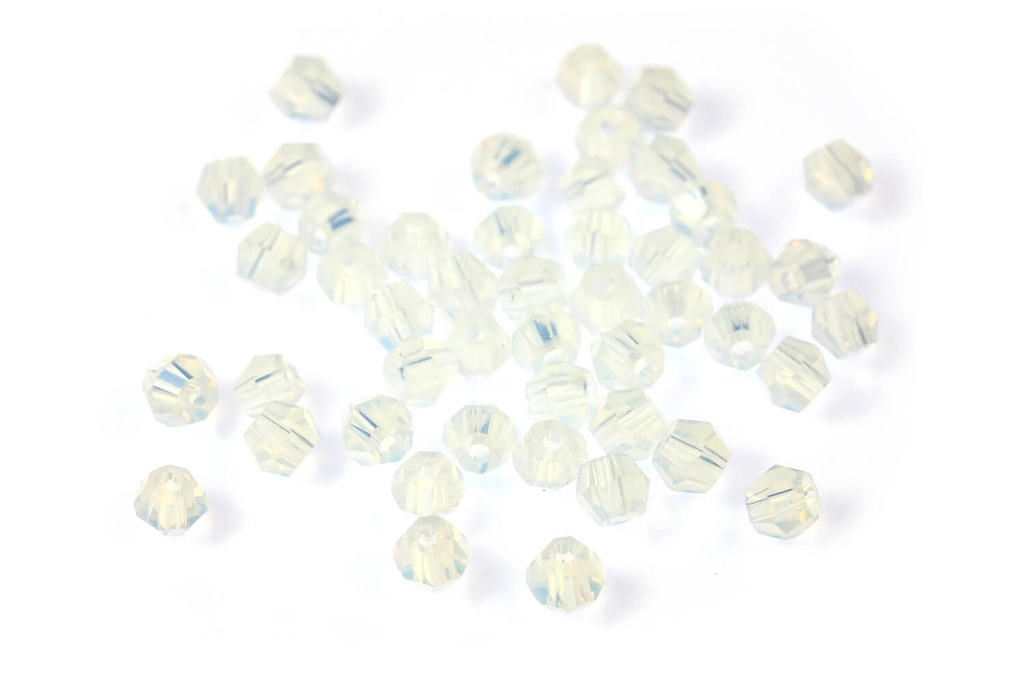 Potomac Crystal Bicones - Opal AB 2mm