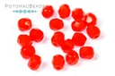 Czech Faceted Round Beads - Red Opaque 4mm