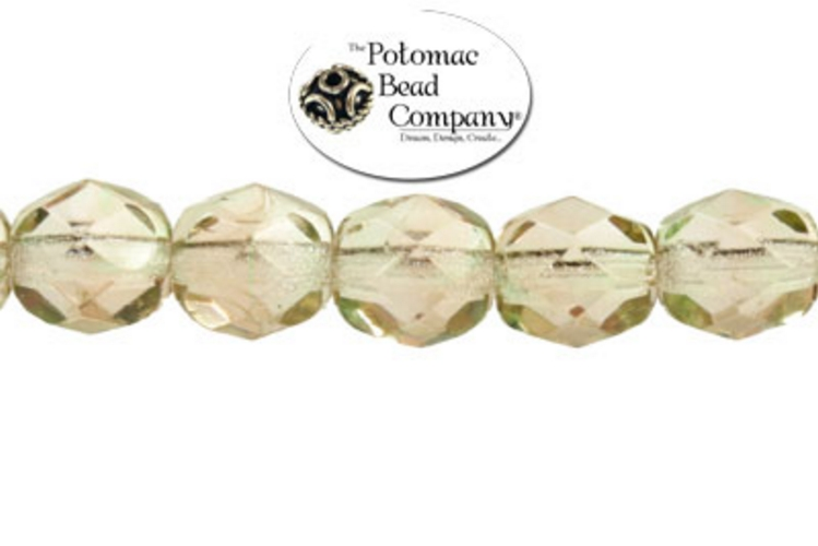 Czech Faceted Round Beads - Light Amethyst 6mm