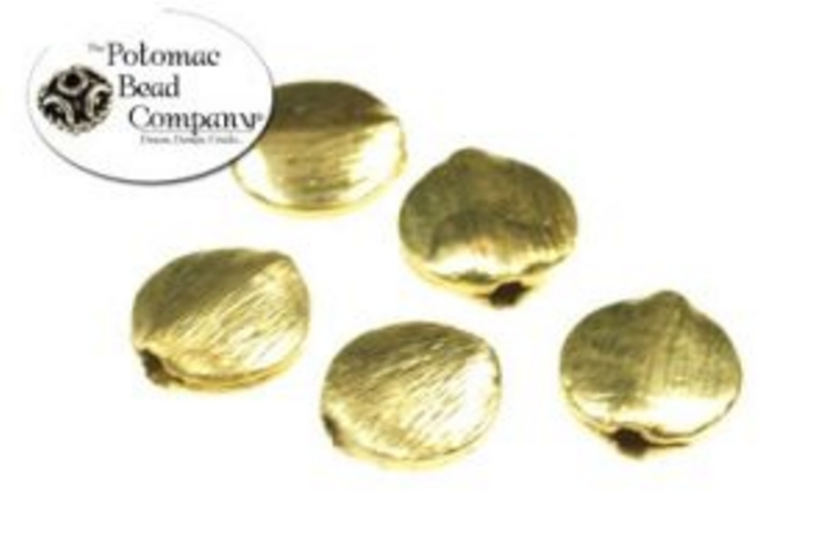 Brushed Coin Beads Brass