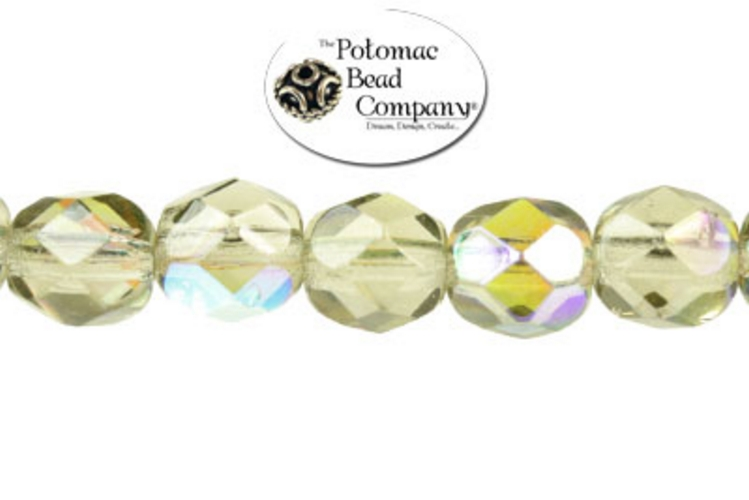 Czech Faceted Round Beads - Smoke 6mm