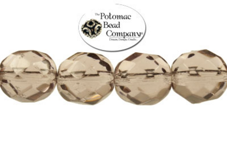 Czech Faceted Round Beads - Light Ameth 8mm