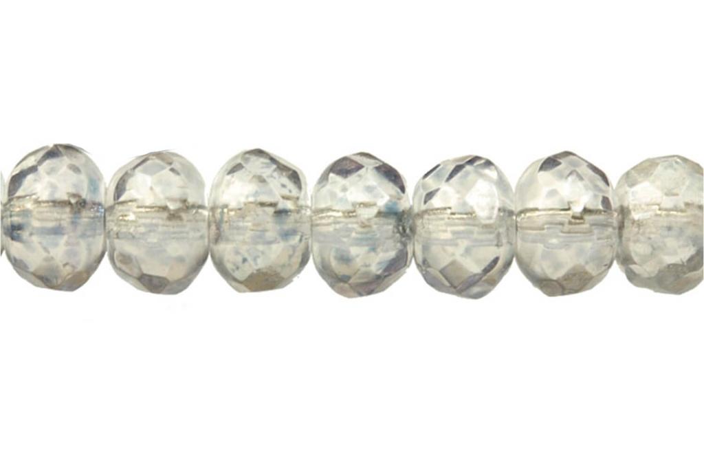 Czech Faceted Rondelle Beads - Light Sapphire 4x7mm