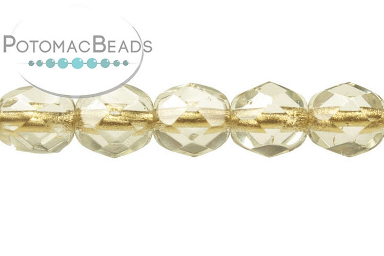 Czech Faceted Round Beads - Crystal Lined