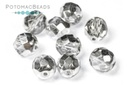 Czech Faceted Round Beads - Crystal Labrador 8mm
