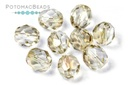 Czech Faceted Round Beads - Crystal Clarit