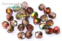Czech Faceted Round Beads - Magic Wine 3mm