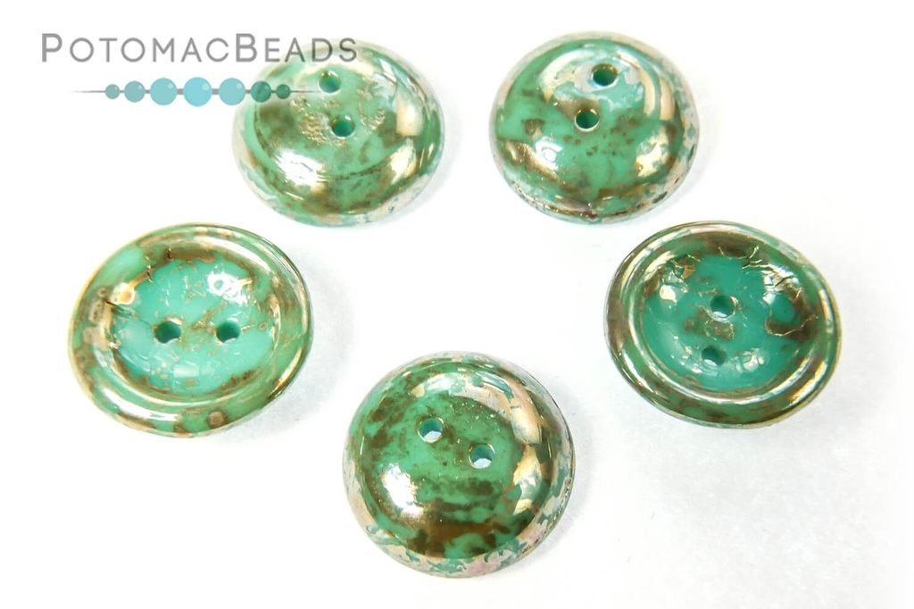 Cup Buttons - Jade Picasso (5 pack)